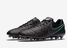 separation shoes 72f0b 4ff39 Nike Tiempo Legend VI FG ACC Cleats Black Turquoise 819177 004 Mens Sz 7  WMN 8.5