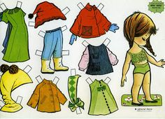 15 dolls and outfits for each Paper Toys, Paper Crafts, Vintage Paper Dolls, Little Doll, All Paper, Editorial, Retro Toys, Best Memories, Doll Toys