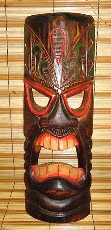 """20"""" Wood Tiki Mask 01"""