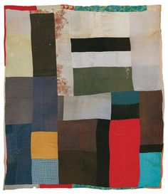 Aolar Mosely, Blocks, c. 1955, Cotton (even weave, twill, dotted swiss), 75 x 83 inches