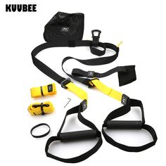 KUUBEE Resistance Bands Hanging belt Sport Gym workout Crossfit Fitness Suspension Exercise Pull rope straps Training