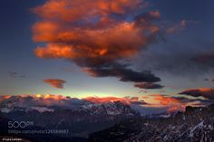 Dolomites Sunset 2 by luca-lanzani. Please Like http://fb.me/go4photos and Follow @go4fotos Thank You. :-)