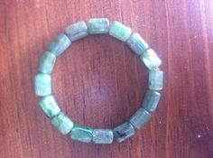 Kyanite RARE Green AA Grade Fits a wrist of 6.8 by Crystalcures4u, $229.00