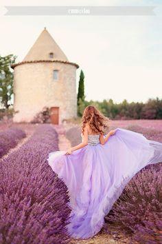 Lavender dress in lavender fields {Provence}
