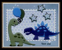 Boy Cards, Kids Cards, Kids Birthday Cards, Boy Birthday, Marianne Design Cards, Dinosaur Cards, Animal Puzzle, Pet Birds, Cardmaking