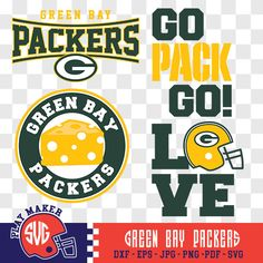 Green Bay Packers SVG, Packers Football Clipart, Green Bay Monogram, Packers Silhouette, Screen Printing, Play_016