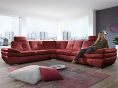 Salzburg Leather Sectional Sofa Sleeper by Nordholtz | $5,795