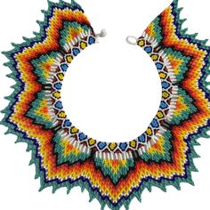Resultado de imagen para collares embera Beaded Jewelry, Beaded Necklaces, Diy And Crafts, Arts And Crafts, Bead Weaving, Beading Patterns, African Fashion, New Art, Seed Beads