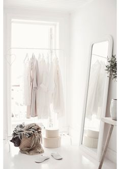 Pastel pink and cream make a beautiful dressing room or bedroom / Concept by Anna