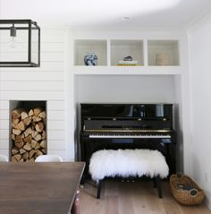 piano in a niche wall - Before and After: Robin Road Remodel pt.2
