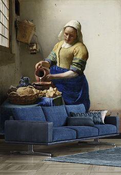 Vlies fotobehang Het Melkmeisje - Rijksmuseum behang | Muurmode.nl