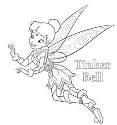Desenhos para Colorir da Sininho – Imagens para Imprimir da Tinker Bell