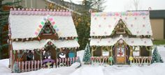Wooden Gingerbread Houses DIY