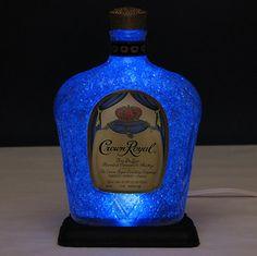 "Crown Royal Whiskey Lamp Light Brilliant Blue LED ""Diamond Like"" Glass Coating   eBay"