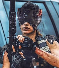 This mask design was something that i really wanted to implement because it already changes the soilders look from a normal soilder to a high tech one. Cyberpunk 2077, Shadowrun Rpg, Darkside, Cyberpunk Aesthetic, Dystopian Future, Sci Fi Armor, Future Soldier, Cyberpunk Character, Futuristic Art