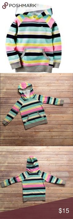 Carter's Girls NWOT Striped Hoodie Size 2T Carter's NWOT Girls Striped Multi Color Hoodie Size 2T. Material is 100% Cotton. Machine Wash Cold. 🚫NO TRADES🚫 Carter's Shirts & Tops Sweatshirts & Hoodies