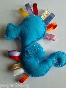 Baby Taggy TOY Seahorse Lovely Bright Colours AND Ideal Size FOR Tiny Hands NEW