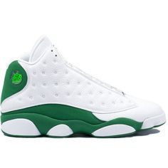 the best attitude 3f8a3 4d32c Kixclusive - Air Jordan 13 Retro  Ray Allen  White   Clover ( 850) ❤ liked  on Polyvore