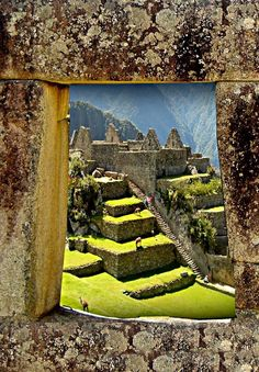 Tell tale Inca architecture, trapezoidal windows and doorways. Machu Picchu - Perú