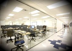 tempered glass space #institutional #interior #design #construction #furnishing #workspace
