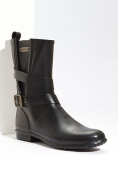 Burberry Buckled Rain Boot (Women)   Nordstrom