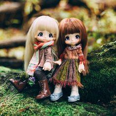 Forest buddies!  #kikipop #kinokojuice #azone #azonejp #bjd #doll #dollcollector #dollstagram #instadoll #dollsofinstagram #toycollector #dollphotography #toyphotography #bjddoll #balljointeddoll #bjdphoto #autumn #toystagram #mushroom #forest #woods