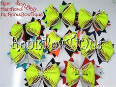 How To Make a Real Softball Hair Bow Video includes tools needed and where to get supplies!.