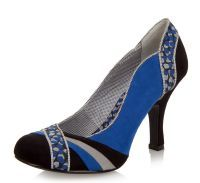 Ruby Shoo Heather Blue Black High Heel Court Shoes