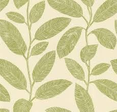 green leaf wallpaper for walls - kitchen - lush but expensive!