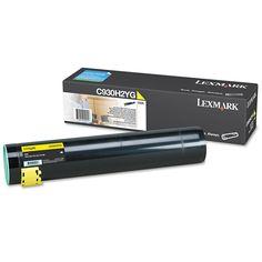 Lexmark C930H2YG High-Yield Toner, 24000 Page-Yield, Yellow