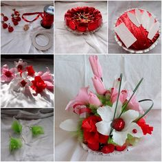 Mothers' Day is in the corner, are you ready for the gift surprise? Chocolate and flowers are among the common choices, let's try this bouquet today. Materials you may need: Chocolate or candies Cardboard Crepe paper Scissors Toothpicks Thread Poly foam Ribbons Floral tape