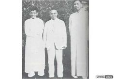 """John Sung and Watchman Nee - John Sung, Leland Wang and Watchman Nee, Shanghai 1934. Watchman Nee was also frequently afflicted with serious ill health. For the first eleven years of his ministry, beginning in 1922, he suffered alone, with no wife to help him. During this time he contracted tuberculosis and suffered acutely for several years. In 1934 at the age of thirty, however, Watchman Nee married a true """"help meet,"""" Charity Chang, although the Lord was to give them no children. ..."""