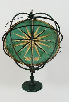 didactic armillary sphere made by Professor H. Albrecht Berlin late 19th century