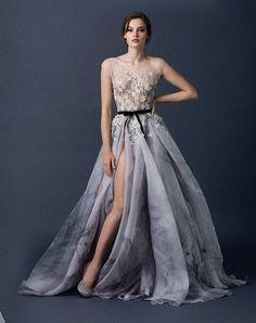 2015 New Cap Sleeve A Line Wedding Dresses Beads Crystals Applique Belt Sash Sheer Organza Bridal Gown