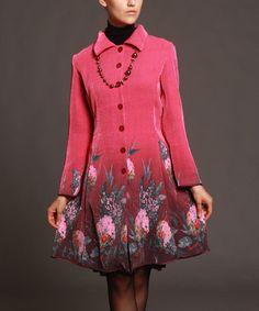 Pink & Green Floral Button-Up Jacket - Women & Plus by Jerry T Fashion #zulily #zulilyfinds