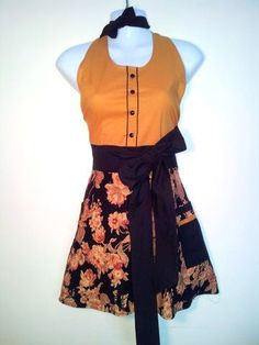 Full Apron  Champagne Toast  Caramel Bodice by ChicChefBoutique, $38.00