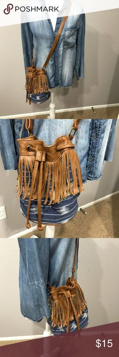 """Kendall & Kylie Madden Girl Fringed Crossbody Preloved and in great condition. Super cute and perfect for festival season. Norma wear. There's a small mark inside purse (see picture). Strap is adjustable.   Measurements: Height - 9"""" Width - 3"""" Length - 9"""" Drop - 22"""" Kendall & Kylie Bags Crossbody Bags"""