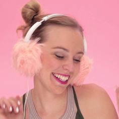 You can make a pair of ear muff headphones for the winter by following this style DIY video tutorial.