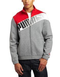 PUMA Apparel Men's Sweat Track Jacket, Medium Gray Heathe...