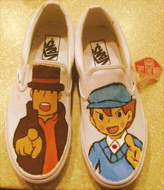 Professor Layton shoes!!!!! I WANT THESE AND THEREFORE I SHALL GET THESE!!!!