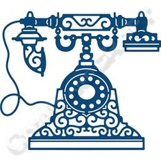 Tattered Lace Retro Telephone Die (367714)   Create and Craft