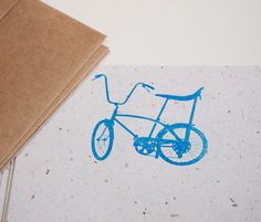 Bicycle Stationery Set retro schwinn bike stationary letter writing paper eco-friendly