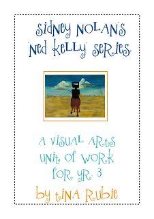 Australian Visual Arts Unit of Work - Sidney Nolan's 'Ned Kelly' Series. Visual Art Lessons, Art Lessons For Kids, Visual Arts, Sidney Nolan, Teaching Art, Teaching Ideas, Teaching Resources, Childrens Artwork, Jr Art