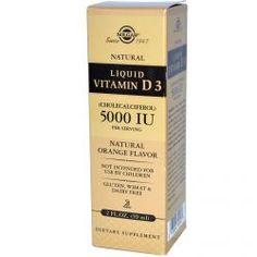 Solgar, Liquid Vitamin D3, 5000 Iu Per Serving, Natural Orange Flavor, 2 Fl Oz (59 Ml), Diet Suplements 蛇