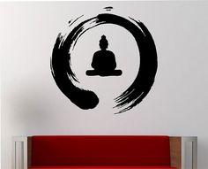 Círculo Zen con la meditación de Buda pared calcomanía vinilo pegatina arte decoración dormitorio diseño Mural diseño interior paz de Buda japonés