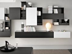 Contemporary Bookcases Modern : Modern Contemporary Bookcase Designs and Styles – All Contemporary Design Wall Mounted Bookshelves, Cool Bookshelves, Modern Bookshelf, Bookshelf Design, Modern Shelving, Metal Bookcase, Book Shelves, Interior Desing, Modern Interior