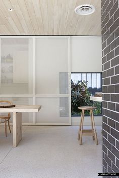 Poured Terrazzo floor...good for kitchen!  Architect Clare Cousins' Home | Afflante.com