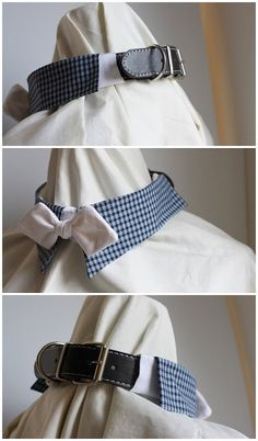 Pet's Fancy Shirt Collar with Bowtie for Large dogs by ATLcollars, $28.00