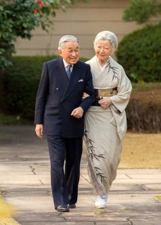 Emperor Akihito of Japan and Empress Michiko