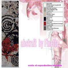 poppies by Finette Peyote Beading Patterns, Peyote Stitch Patterns, Bead Loom Patterns, Loom Beading, Bracelet Patterns, Beaded Bracelets, Beaded Jewelry, Graph Design, Tutorials